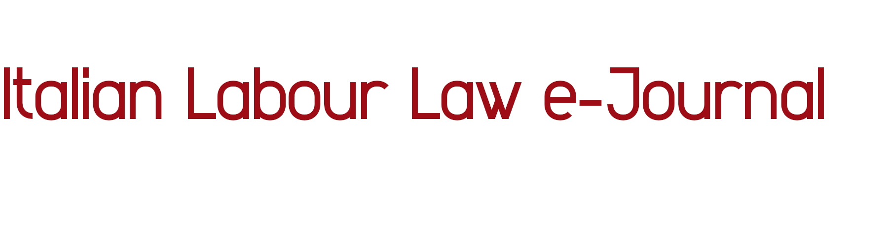 Italian Labour Law e-Journal